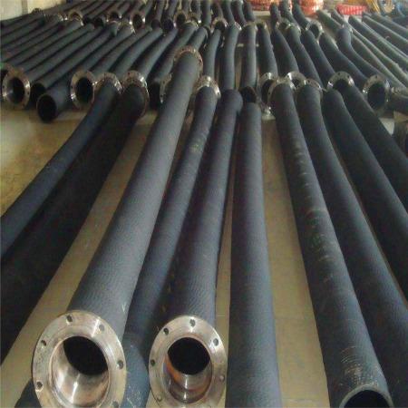 批发定制螺旋钢丝橡胶管 挖泥船专用耐磨橡胶软管 钢丝骨架输送胶管厂家直销