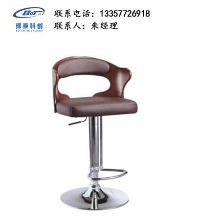 北欧休闲铁艺吧椅 创意简易型酒吧 实木吧椅 高脚凳定制 卓文办公家具休闲吧椅 YZ-05