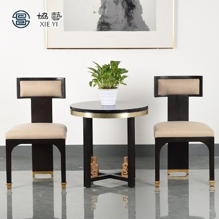 协艺家具 老榆木凳子 新中式餐椅新中式椅子 榆木椅 休闲椅  中式椅子厂家 新中式家具