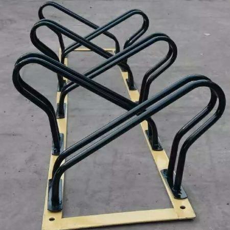 自行车停车架 钢管式车架 螺旋式车架  高低式停放架 钢管式车架