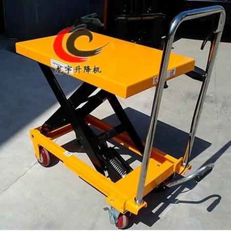 直销烟台脚踏平台专用车 小型升降装卸平台 手动液压小推车