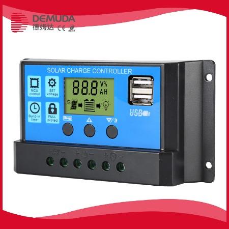 光伏太阳能控制器20A12v24v全自动铅酸智能数显通用型家用充电手机充电