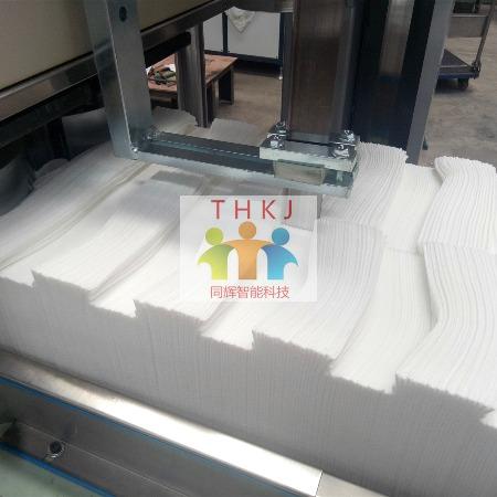 同辉机械无纺布折叠机 擦拭布方巾折叠机设备