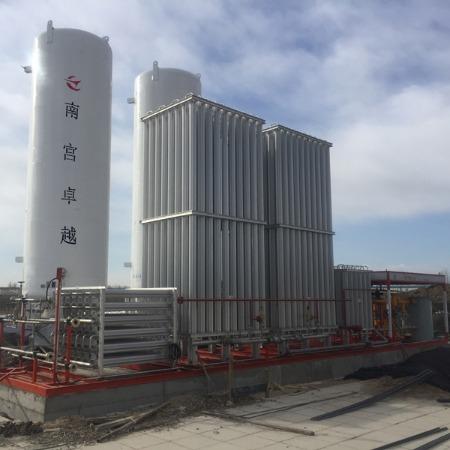 lng空温式气化器 煤改气设备 电加热复热器 气化调压计量撬 南宫卓越气体设备