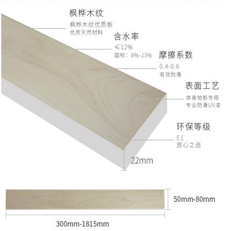 昊霖体育厂家直销 上门安装体育馆运动木地板 羽毛球木地板  篮球场木地板