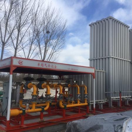 气化调压一体撬价格 空温式汽化器厂家 电加热水浴式辅热器 调压计量撬 南宫卓越气体设备