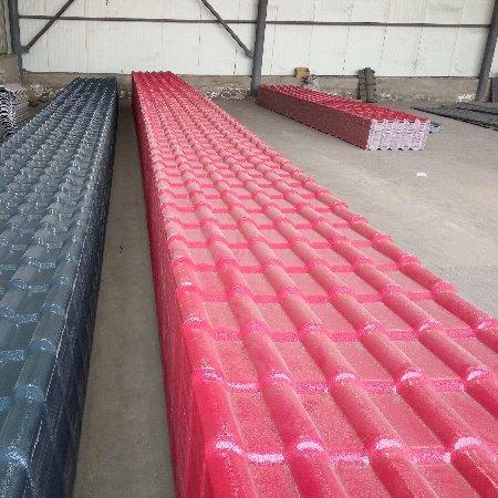 河北省衡水市PVC塑钢瓦 ASA合成树脂瓦 屋顶屋脊配件房屋装饰品