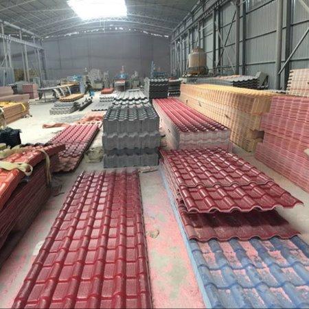 河北懿杉APVC塑钢瓦 ASA合成树脂瓦 屋顶屋脊配件房屋装饰品