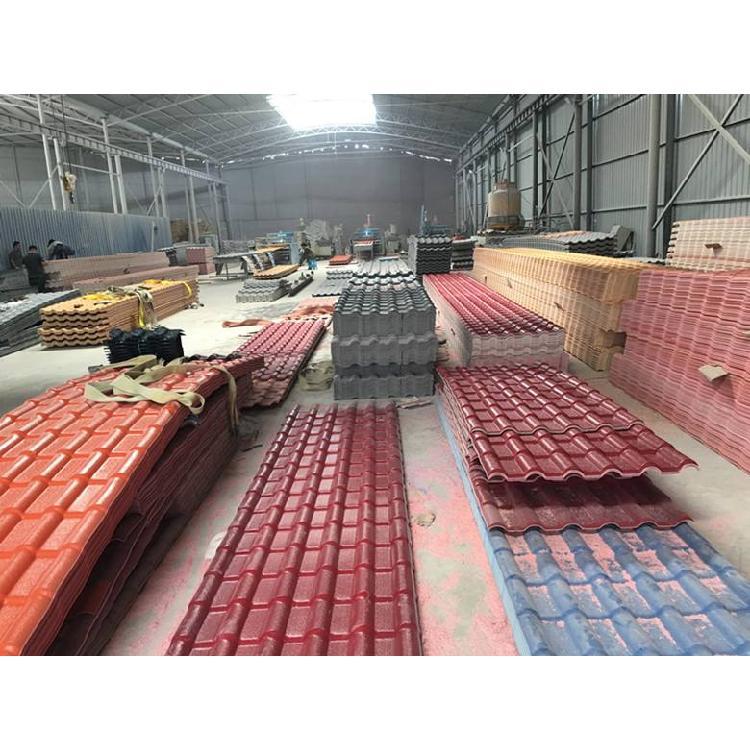 别墅屋面瓦片 防腐合成树脂瓦  琉璃瓦河北省衡水市生产厂家树脂瓦多少钱一平方