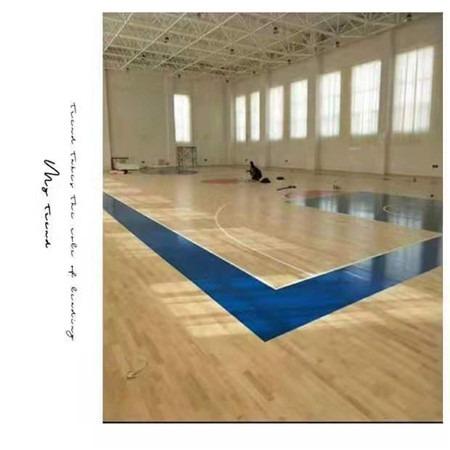 室内实木运动木地板安装  选昊霖体育