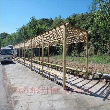 防腐木花架厂家制作 户外葡萄架设计 花架施工公司