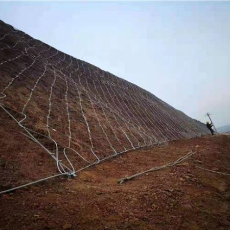 厂家销售勾花网 柔性钢丝绳网 主动道路边坡防护网 斯登诺