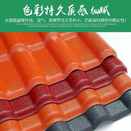 厂家直销PVC塑钢瓦 ASA合成树脂瓦河北衡水 屋顶屋脊配件房屋装饰品