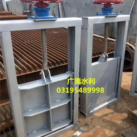 专供污水不锈钢插板闸门   手动一体钢制插板闸门广禹制造