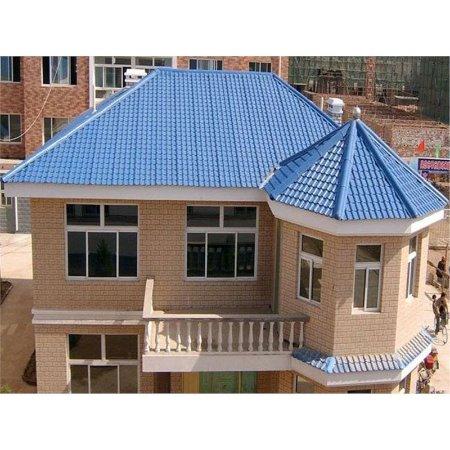 河北衡水厂家直销 APVC塑钢瓦 ASA合成树脂瓦 屋顶屋脊配件房屋装饰品