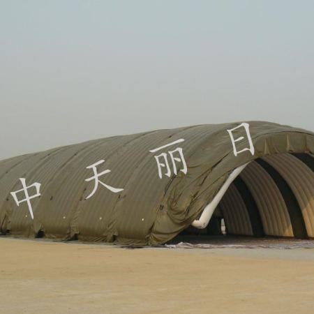 中天丽日部队转用移动飞机库,大型户外多功能综合服务机库平台
