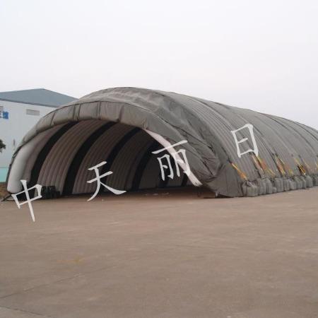 中天丽日大型充气飞机库,大型便携式移动飞机库