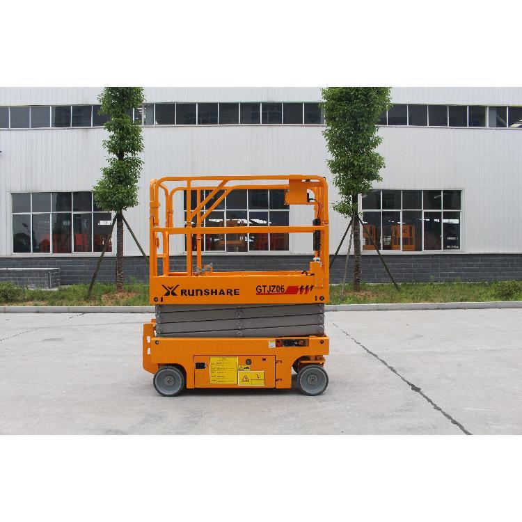 运想重工GTJZ06剪叉式高空作业平台-电动剪刀叉升降车-自走式6米升降平台