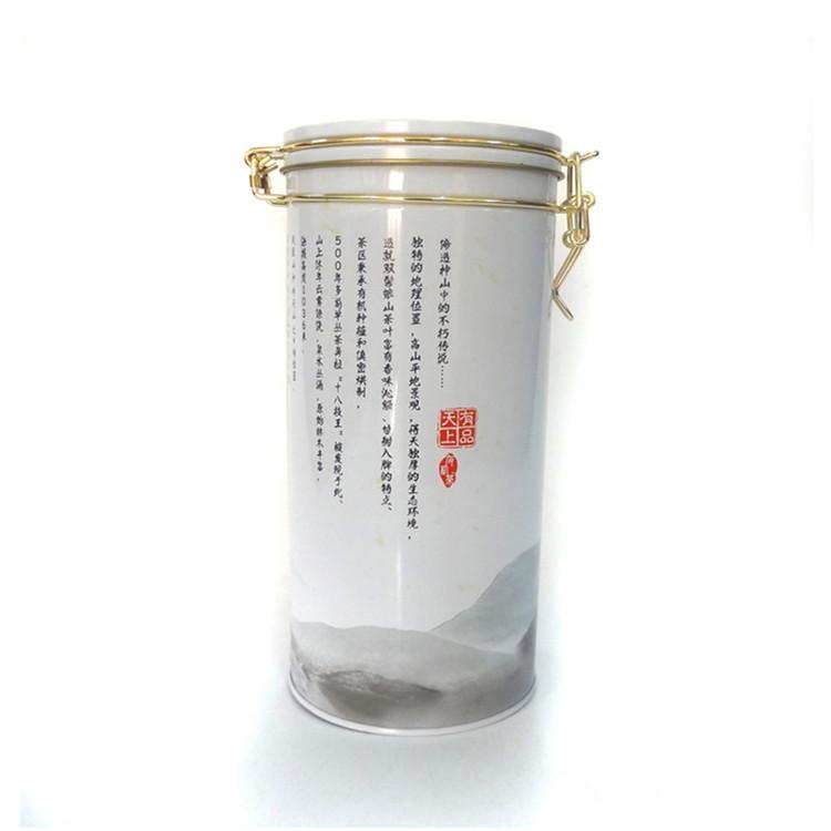 广州马口铁包装罐厂研发通用茶叶包装铁罐圆形