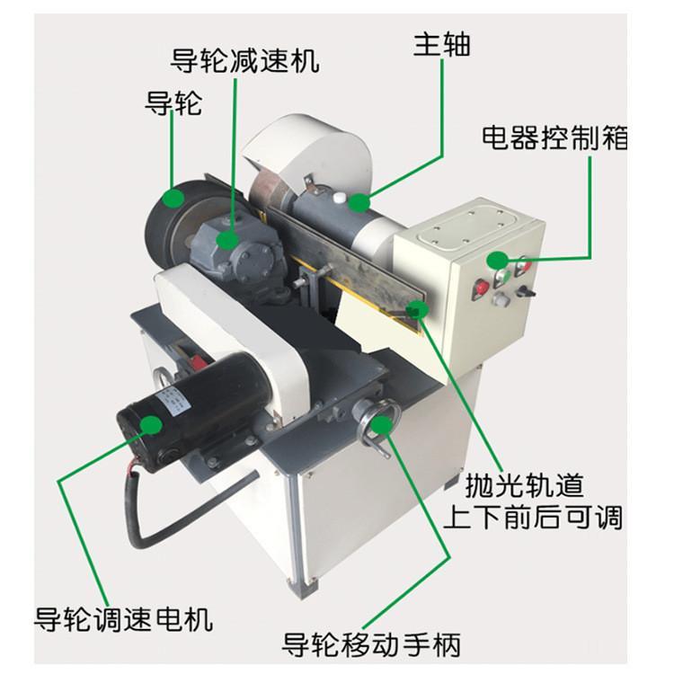 小型自动圆管抛光机钢管除锈机可定做多组电动磨光机