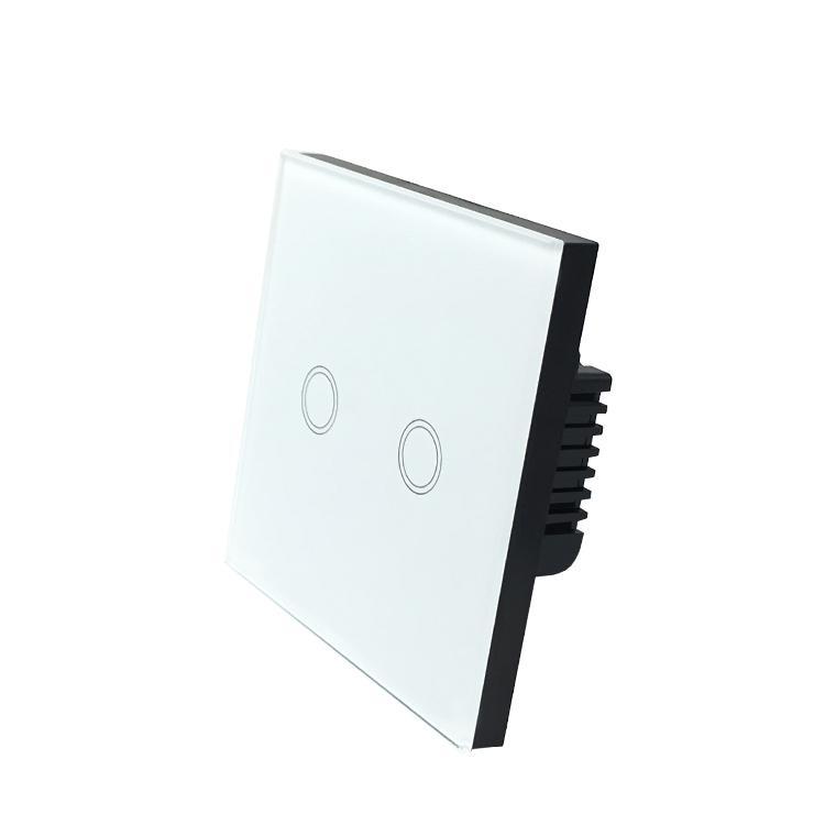 欧规零火线86型触摸智能wif2开i开关可接语音音箱