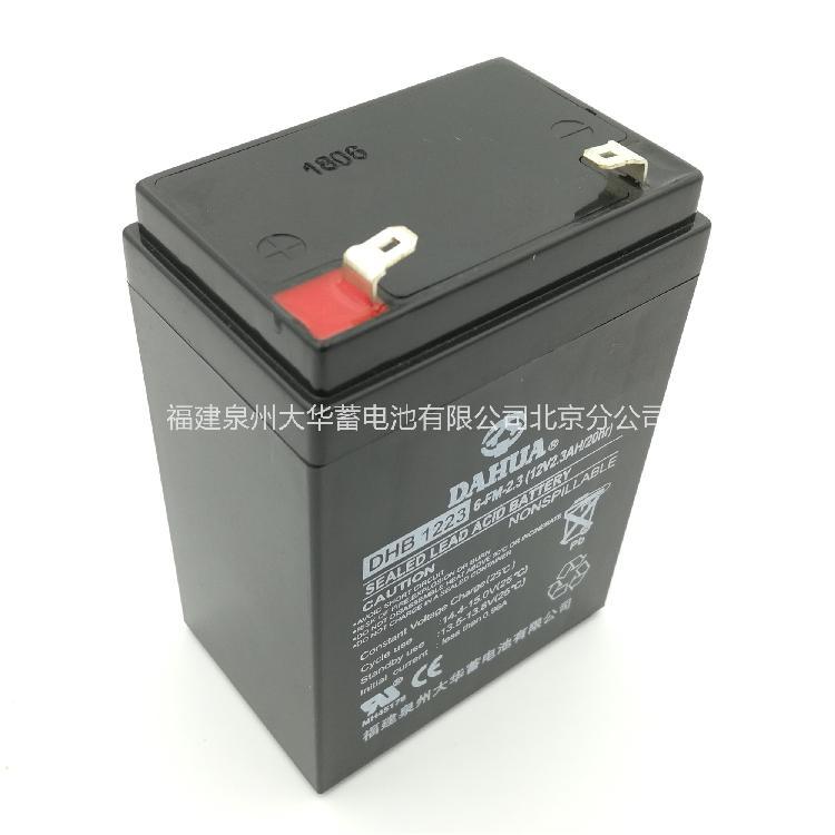 专业供应大华蓄电池 大华电池  大华锂电池 大华北京分公司正品出售12V2.3AH电池