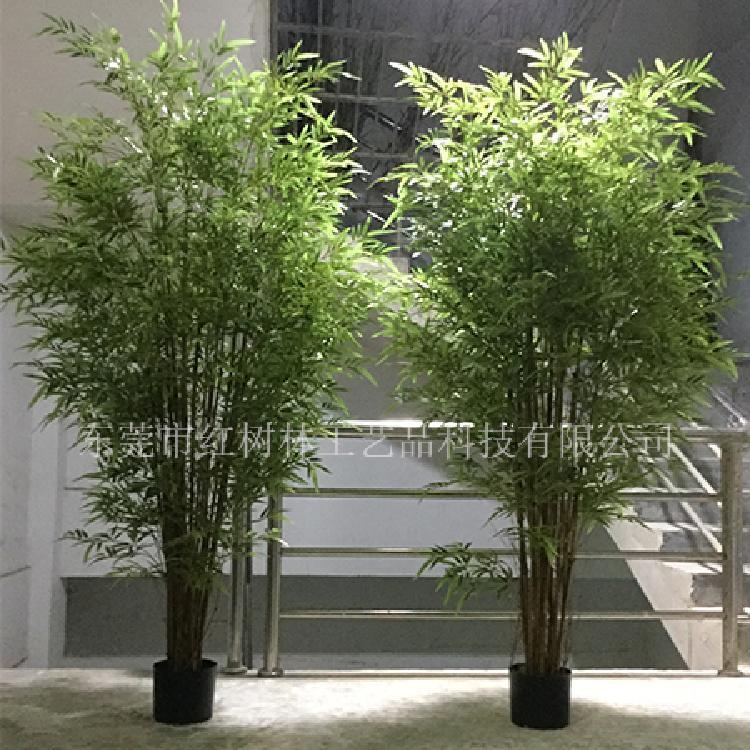 仿真竹子-仿真植物盆景-假竹子绿植屏风隔断-红树林工厂批发