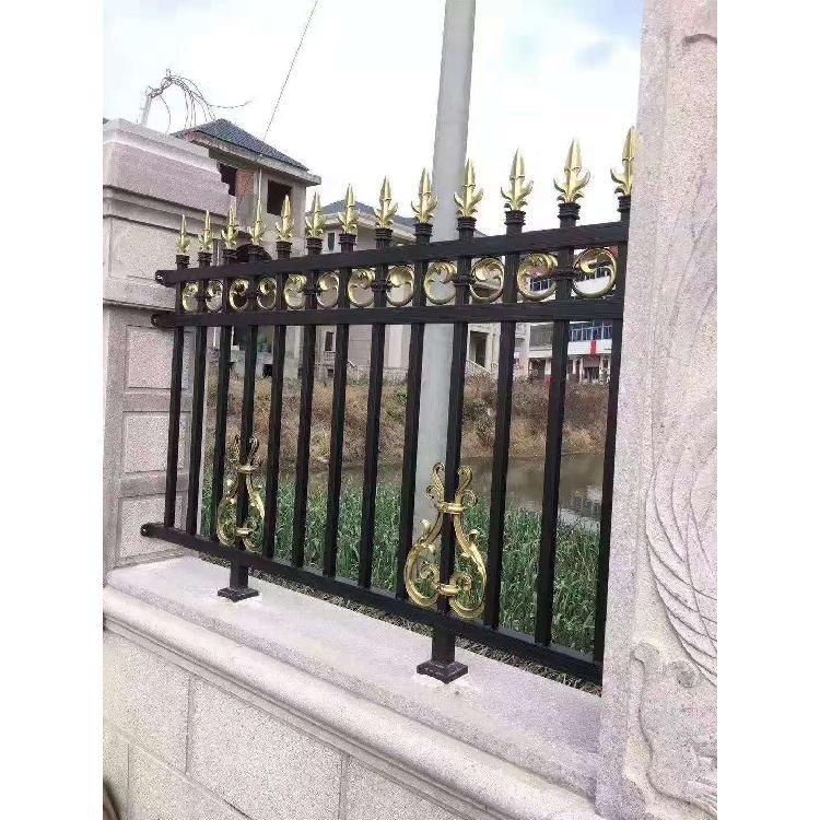 厂家定制庭院铝艺护栏 别墅院墙栏杆铝合金护栏花园外墙安全围栏