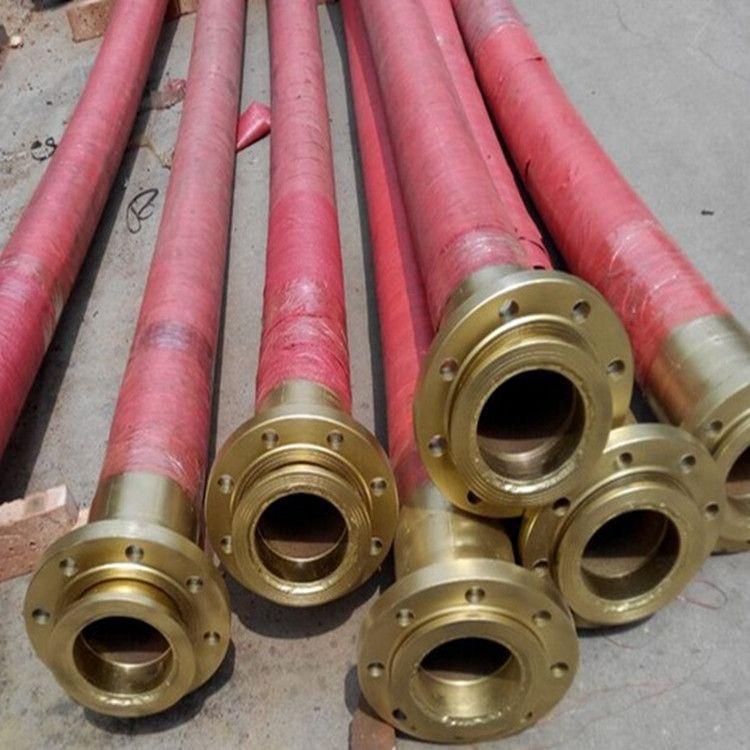定制加工油田专用法兰连接高压胶管 油田吸排油胶管 高压耐油胶管 钻探胶管