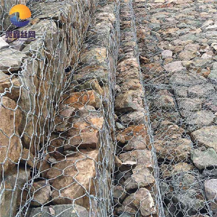 河道石笼网 兆鑫石笼网厂 镀锌石笼网  覆塑石笼格宾网 石笼网价格