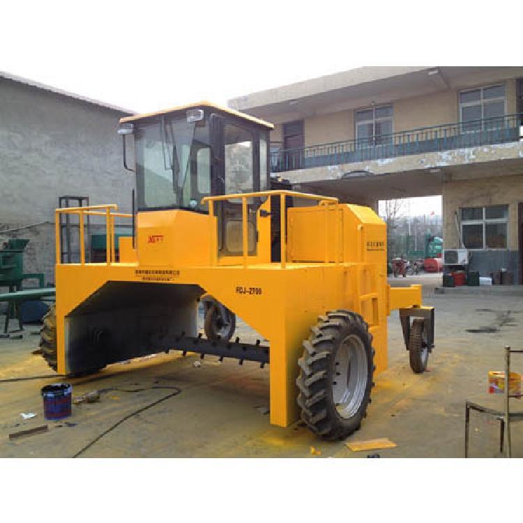 有机肥翻堆机  车轮翻抛机  粪便处理环保设备  一正有机肥厂家