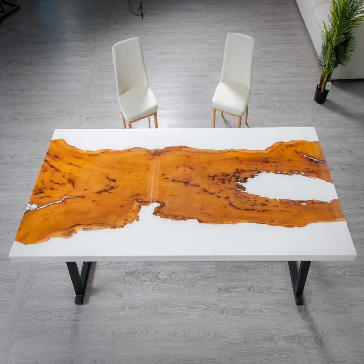 浙江现代树脂与木餐桌 办公桌可定制价格