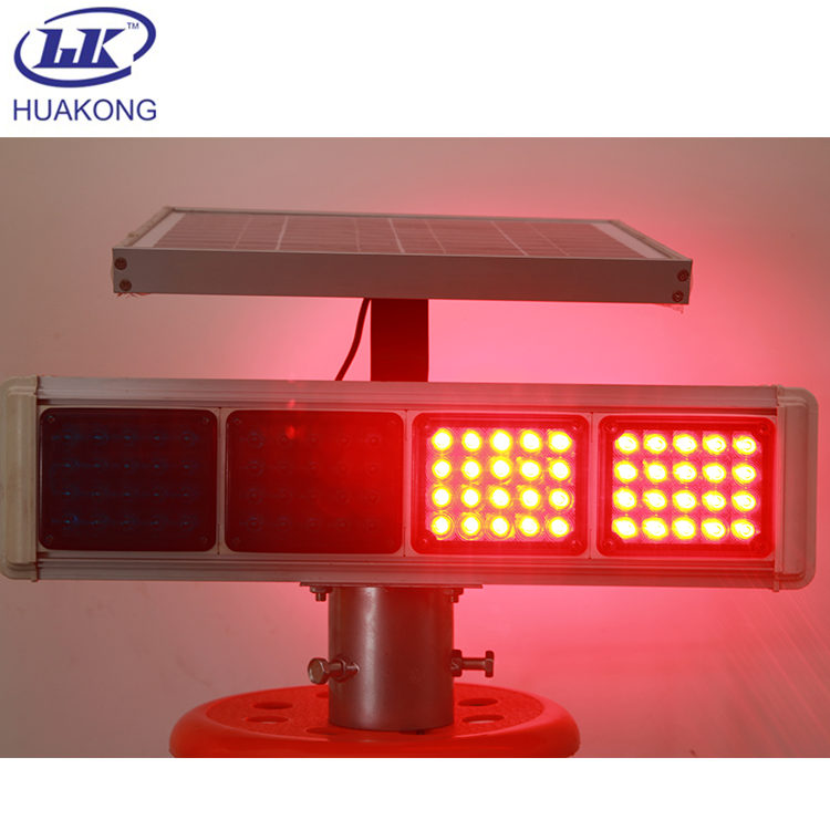 太阳能信号灯厂家 太阳能灯 红蓝爆闪灯 安全警示灯