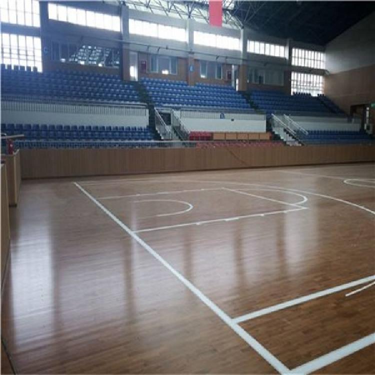 昊霖体育专用运动木地板 篮球场运动木地板 实木运动木地板 舞台运动木地板 运动木地板厂家定制