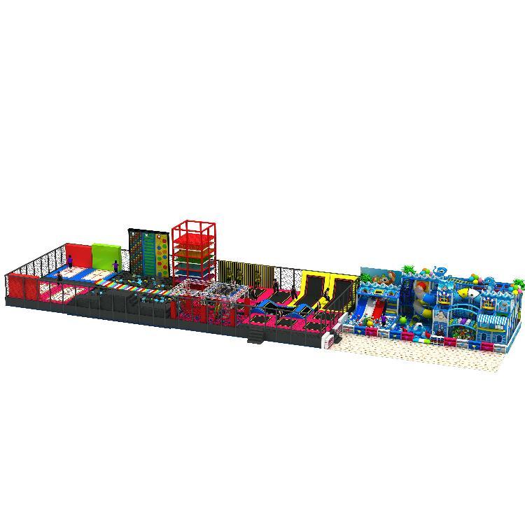 儿童淘气堡大型蹦床魔鬼滑梯幼教玩具游乐设备