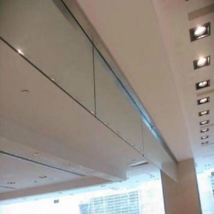 泰州电动挡烟垂壁生产厂家  耐高温防烟稳定性好固定玻璃式挡烟垂壁定做