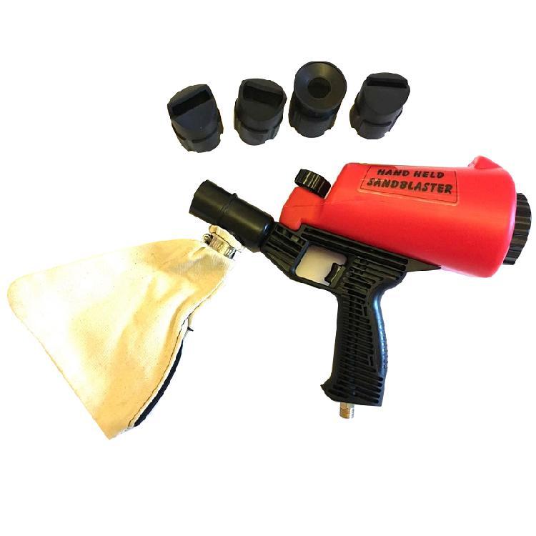 跨境电商 手持式气动喷砂枪 便携式除锈小型喷沙器适用于喷砂除锈