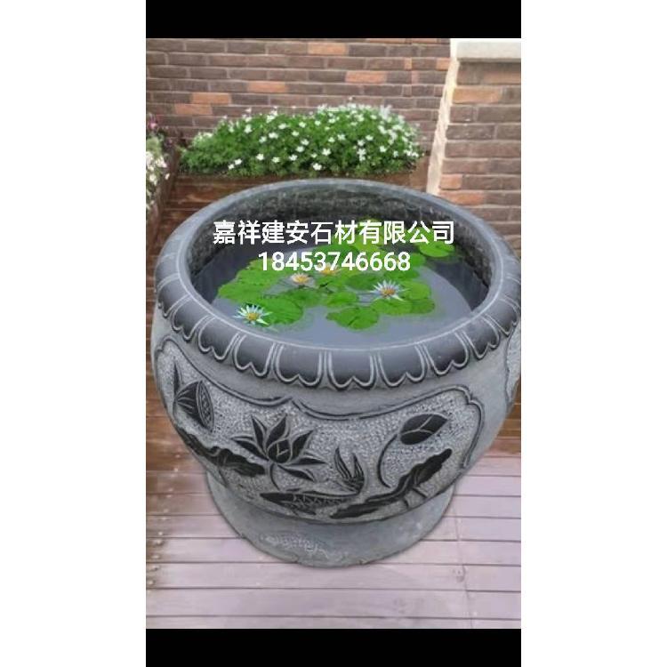 石雕鱼缸直销厂家  仿古石缸  石缸   石雕盆景 柱鼓石  柱础石 柱基石 石雕鱼缸