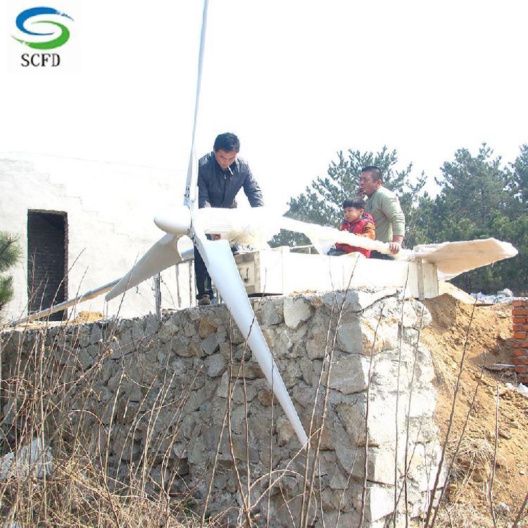 锡林郭勒2kw220v家用风力发电机离网发电供家庭使用定做产品