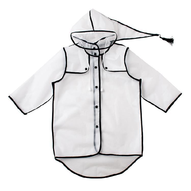 儿童雨衣单人连体透明加厚雨披 户外旅行雨披学生eva儿童雨衣定制