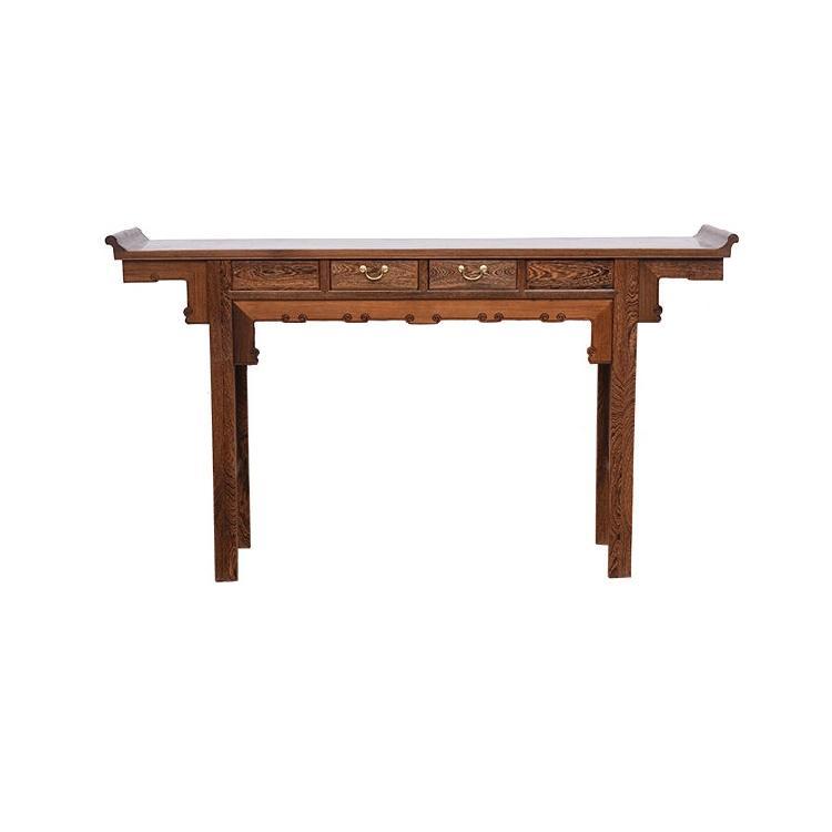 禅森家具红木家具鸡翅木供桌条案佛台实木供台家用香案中式翘头案神台