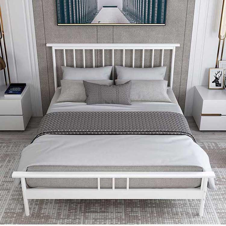 定制员工铁架床 欧式单人铁艺床 铁架床加厚 卧室双人铁艺床
