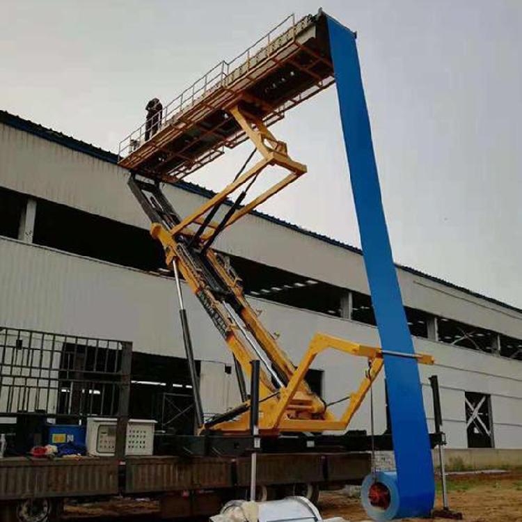鑫京泰 加工 高空移动压瓦机 高空彩钢设备 举升25米压瓦机 制瓦机