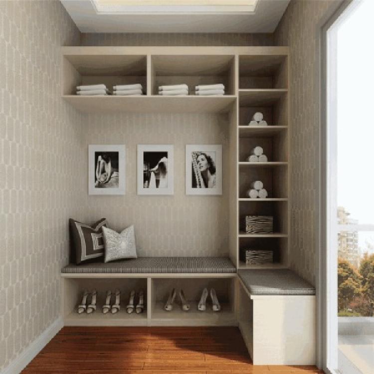 南京定制设计进门玄关组合柜的效果  酷派专业定制