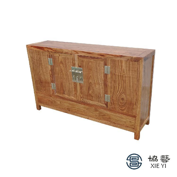 协艺家具 实木柜子 原木储物柜 五斗柜仿古 新中式柜子