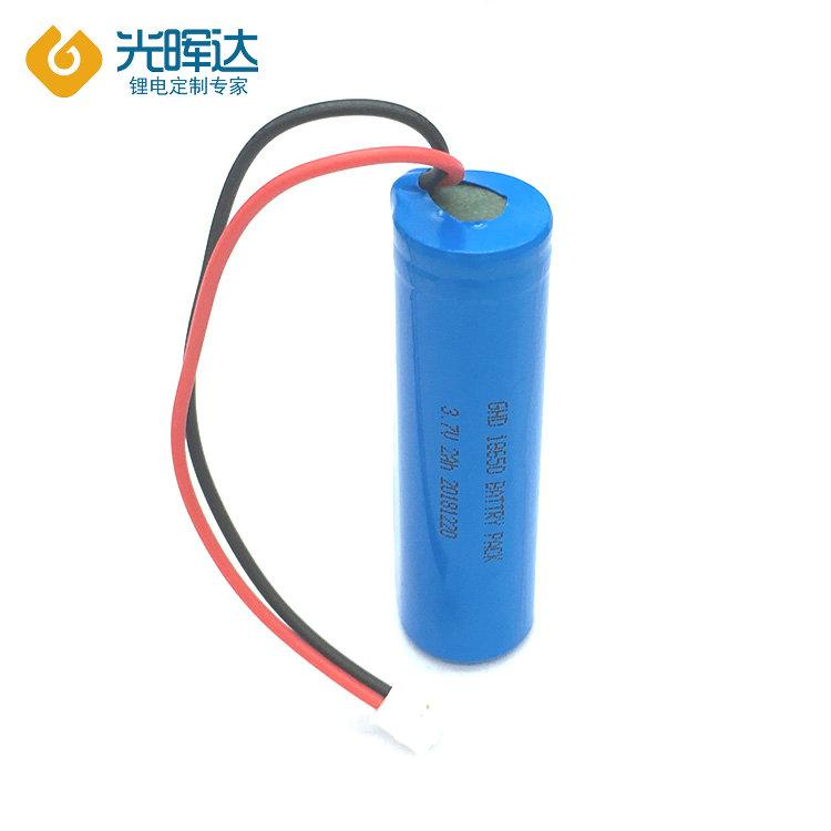 光晖达 厂家生产 3.7V 18650锂电池 蓝牙音箱锂电池2000mAh 加线加保护板加工定制