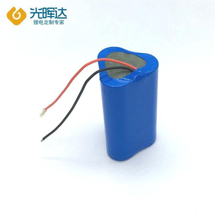 供应18650锂电池组 6000mah 3.7V钓鱼灯电池 手持小风扇锂电池组定制 厂家光晖达