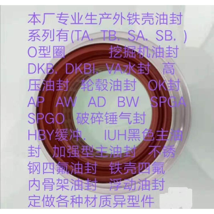 上海岩宏密封件  不锈钢四氟外铁壳油封  铁壳油封定制 生产厂家网址