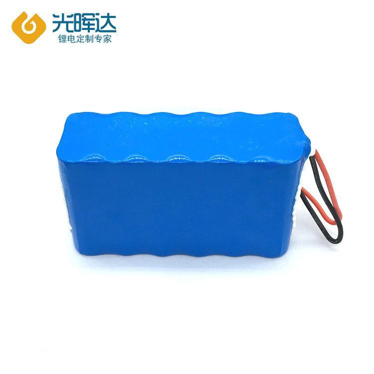 18650锂电池组厂家生产加工串联并联7.4V加保护板加线12000mah 医疗设备电池定制 光晖达