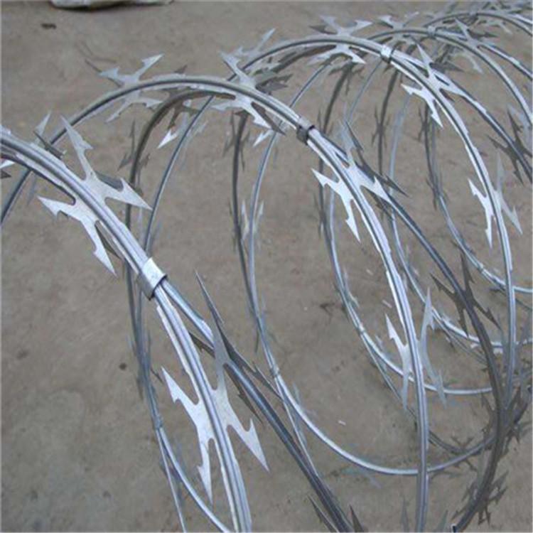 康博304不锈钢刀片刺绳刀片刺网 直径50cm 10kg/